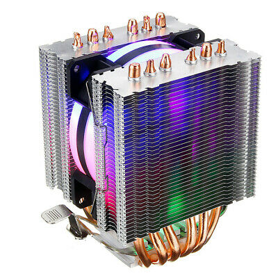 RGB Color 6Heatpipe CPU Cooler Gaming Cooling Fan For AMD AM2 AM3+AM4 FM2 FM3 PC