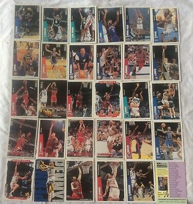Lotto 30 NBA Cards Collector's Choice Upper Deck 1996 Tutte Diverse