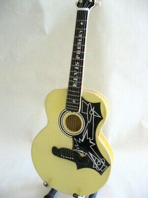Miniature Acoustic Guitar - ELVIS PRESLEY - Father's Day Birthday Music Gift