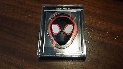 Spiderman Un Nuovo Universo Steelbook Blu Ray 4K + Bluray + magnete figure rara