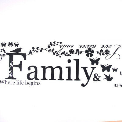 Family Letter Quote Removable Vinyl Decal Art Mural Home Decor Fad Wall Stickers