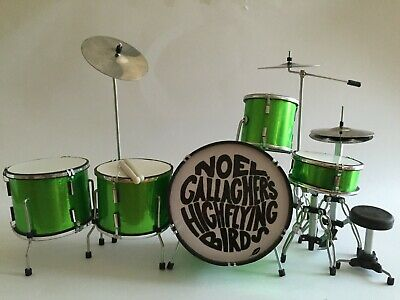 Miniature Drum Kit - NOEL GALLAGHERS - FLYING BIRDS - Fathers Day Birthday Gift