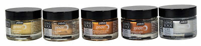 Pebeo Gedeo Gilding Wax Paint 30ml SET OF 5 Metallic Colours for Art,Craft media