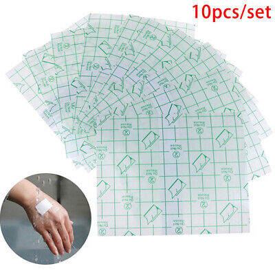 10Pcs 15*15Cm Waterproof Transparent Adhesive Wound Dressing Plaster Stretch~GN