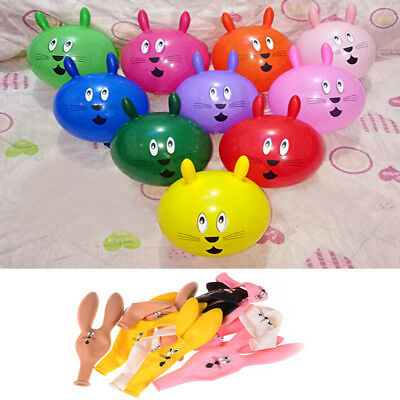 10Pcs Cute Rabbit Ears Latex Balloons Party Baby Birthday Supplies Decor~GN