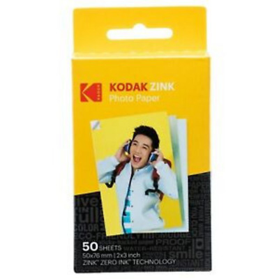 Kodak 2x3 Sticky-Backed ZINK Photo Paper 50 Sheets Compatible With Printomatic
