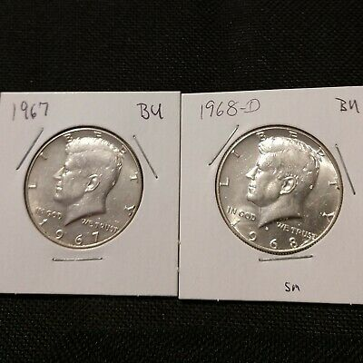 SET of Kennedy Halves 40% Silver (You get the coins in the photo)