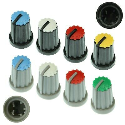 8 Colours D-Shaft 270° Plastic Pot Knobs for 6mm Potentiometer / Rotary Encoder