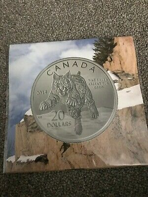 "Canada - 2014 $20 Fine Silver ""Bobcat"" (20 for 20 #12 in series) Coin"