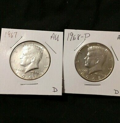 SET of Kennedy Halves 40% Silver (You get the coins in the photo) Set-D