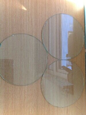 Clock Glass Collection 3 Flat Round 178mm All With Imperfections Ex Clockmaker