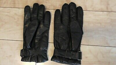 Fownes Dark Brown Leather Gloves - Thinsulate Lining - Size Medium - WPL 9522
