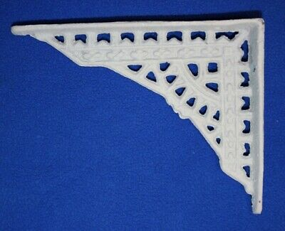 Antique Style Shelf Brackets White Cast Iron 4 inch by 5 inch, Phoenix, B-79
