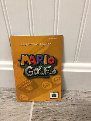 Mario Golf Nintendo 64 N64 Instruction Manual Booklet ONLY