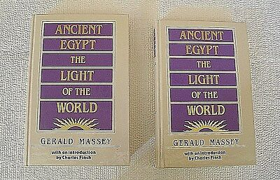 Ancient Egypt The Light Of The World Vol I & Ii Massey Book Hardcover Books