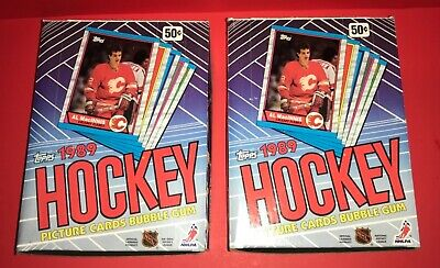 Lot Of (2)~1989/90 Topps Hockey Wax Boxes From Sealed Case~Leetch~Sakic Rookie