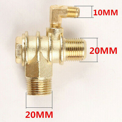 Brass Check Valve Resistance Air Compressor 3-Port Threaded Connector Accessory