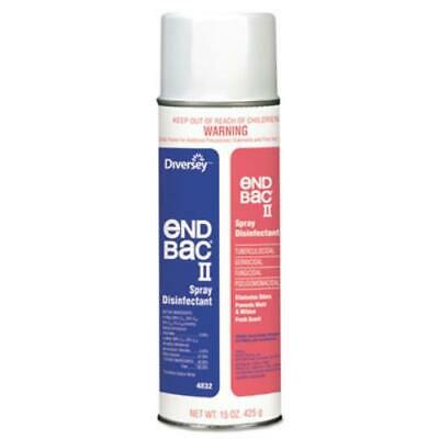 Johnson Diversey 04832. End Bac Ii Spray Disinfectant, Unscented, 15 Oz Aerosol,