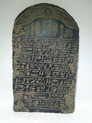 RARE ANTIQUE ANCIENT EGYPTIAN Stela Book Dead Holy Sacred Book Heaven 1830 Bc