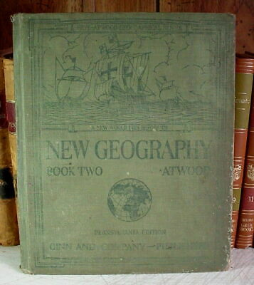 1929 New Geography, Book Two, Pennsylvania Edition -- Well Worn School Book
