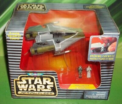 STAR WARS ACTION FLEET GOLD LEADER RED Y-WING FIGHTER SQUADRON COLORS VARIANT