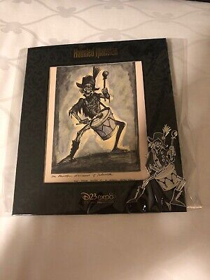 D23 Disney Expo 2019 Dream Store: Haunted Mansion Pirate Ghost Drummer Pin Art