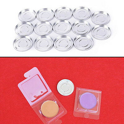 36.5mm 10Pcs Empty Round Aluminium Cases Pans for  Eyeshadow n~GN