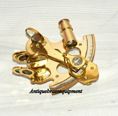 "Vintage Meritime 3"" Brass Nautical Sextant Decore Ship's Sextant Replica Gift"