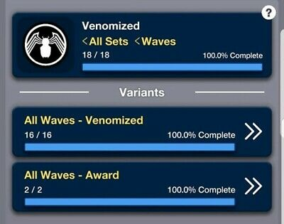 Topps Marvel Collect: Venomized Wave 1 and 2 With Awards Digital