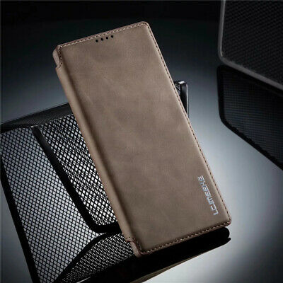 For Samsung Galaxy Note 10 Plus S10 Slim Magnetic Leather Wallet Flip Case Cover