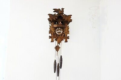 Genuine Black Forest Cuckoo Clock with dancing figures in national costume