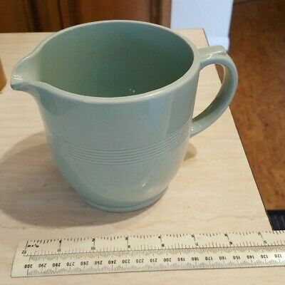 One Genuine Vintage Retro Woods Ware Green Beryl Ribbed Utility Big Jug Perfect