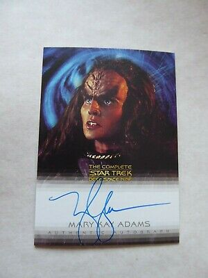 Complete Deep Space Nine DS9  A6  - Mary Kay Adams- Grilka  Autograph Card