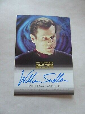 Complete Deep Space Nine DS9  A8 - William Sadler - Sloan  Autograph Card