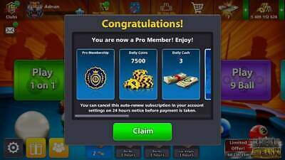 8 Ball Pool Pro Member Venice Table 150m Monthly Subscription!