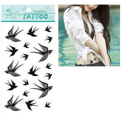 Swallow Bird Flash Removable Waterproof Temporary Tattoo Stickers Body Art~GN