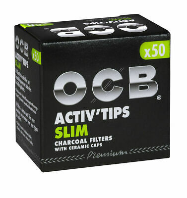 OCB ACTIV`TIPS SLIM 7 mm oder EXTRA SLIM 6mm Aktivkohle-Filter