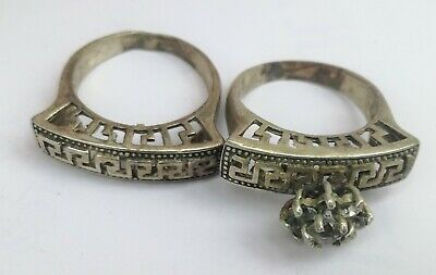 rare ancient  Romane bronze Couple rings viking artifact bronze ring authentic