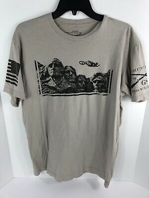 OpticsPlanet Exclusive Grunt Style American Flag T-Shirt 3001-Military Green-L