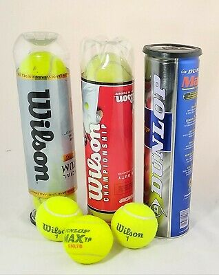 15 Wilson and Dunlop Tennis Balls x 15 (8 New, 7 Used)