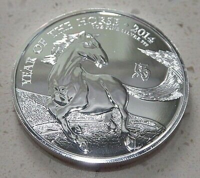 2014 Royal Mint Lunar Year of the Horse 1oz .999 Fine Silver LOW MINTAGE ref2