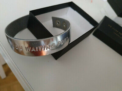 """Lederband Silber mit Spruch """"What are you waiting for?"""" Small"""