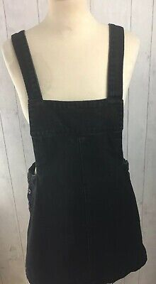 ZARA TRAFALUC OVERSIZE BLACK PINAFORE DUNGAREE BIB & BRACE DRESS Size Small