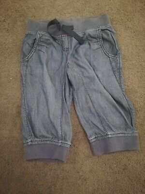 Next Girl's Denim cropped trousers - 6 Years