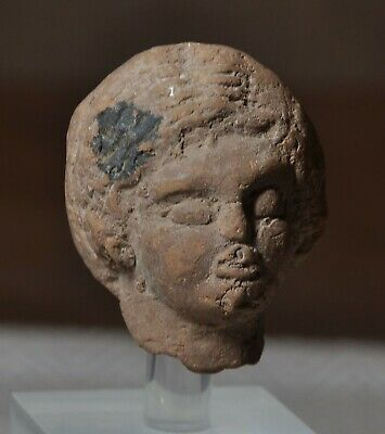 Ancient Roman-North African Terracotta Female Head 1st/2nd C. AD Ethnic Features