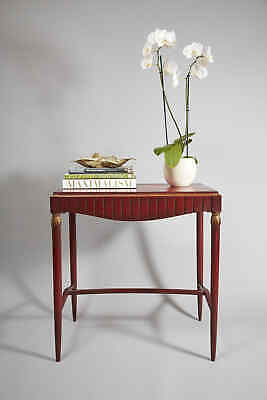 19th Century Painted Swedish Side Table with Gold Wheatsheaf Carved Detail