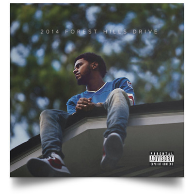 2014 Forest Hills Drive Album Cover Poster J Cole Art Print 16x16 24x24