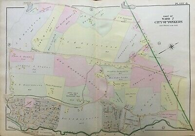 1898 Yonkers Westchester County Ny Adrian Iselin Home For The Poor Atlas Map