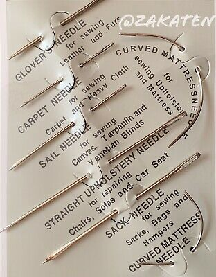 7PCs Repair Sewing Needles Kit Upholstery Carpets Canvas Leather Curved USSeller