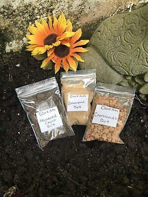 Graveyard,Churchyard,Crossroad Dirt Lot Of 3 bags Witchcraft Hoodoo,Wicca